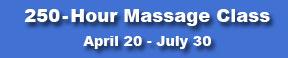 New 250-Hour Massage Class